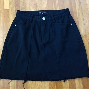 Pretty Little Thing Distressed Black Skirt